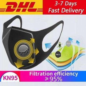 DHL Schiff Gesichtsmaske Wiederverwendbare Filteratemventil Protect Masken Für Staubpartikel Pollution Antistaub PM2.5 Haze pullution Maske