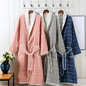 Venta directa de fábrica de gasa de algodón albornoz del hotel para adultos traje de baño falda puede ser modificado para requisitos