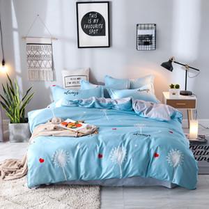 4pcs / set beding Satz eid Bettwäsche Kissenbezug Bettlaken Quilt Bettbezug-Set flaches Blatt Bettwäsche-Set