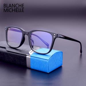 블랑쉬 미셸 2,019 스퀘어 TR90 프레임 안경 프레임 여성 남성 레트로 안티 - 블루 컴퓨터 안경 프레임 안경