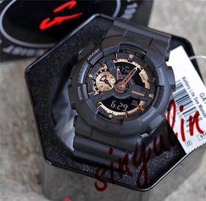 Relógio impermeável Sport Designer relógios G Estilo SHOCK 110 LED Digital Multifunction militar Todos Pointer Work Sport Watch Atacado
