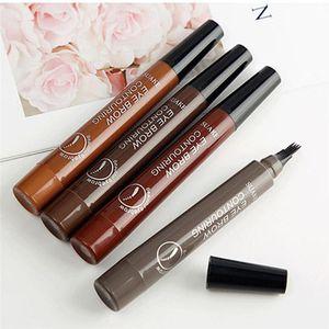 أصلي Cmaadu قلم الحواجب فرشاة رئيس فرشاة تصميم 5 ألوان 2 في 1 قلم الحواجب + فرشاة الحواجب طويلة الأمد للماء 3001371