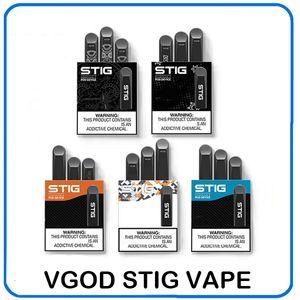 VGOD STIG المتاح قرنة جهاز 3 قطعة / الحزمة 270 مللي أمبير بطارية 1.2 ملليلتر خرطوشة vape القلم كيت 0268107