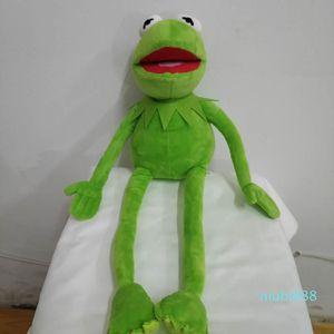 45cm 만화 머펫 Kermit 개구리 견면 벨벳 장난감 아이들 생일 선물을 위한 연약한 소년 인형