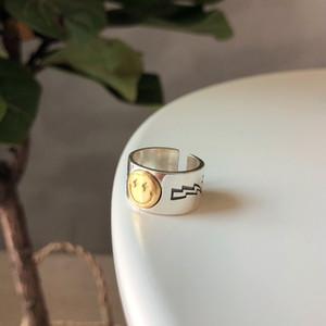 Роскошный дизайн стерлингового серебра 925 пробы ювелирные изделия кольцо специальная Золотая улыбка дизайн лица кольцо хип-хоп дизайн для подарка и молочного ношения