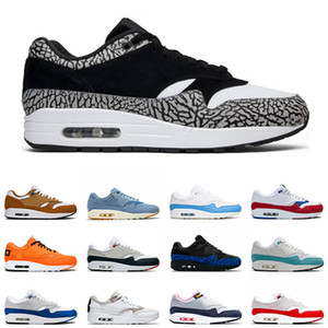 Nike Air Max 1 x Atmos Zapatillas Atmos 1s 2019 Zapatillas deportivas Atmos 1s Animal Pack 3.0 Tinker Parra Bred What The Print Sports Designer Sneakers Talla 36-45
