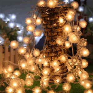LED 눈덩이 문자열 조명 스노우 플레이크 LED 요정 조명 20led / 40led 휴일 웨딩 파티 장식 조명 배터리 구동