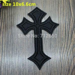 Nuovo arrivo 20 PCS Black Cross Cartoon Patch ricamato Iron su Cartoon Motif BX Applique Accessorio per ricamo 201501