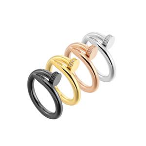 Brillante Finger cubico zircone Anelli di moda di disegno di marca delle donne dell'annata monili di lusso anello di fidanzamento signore dell'anello