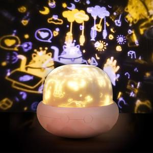 lampada di proiezione del fungo LED camera da letto al coperto comodino notte paio luce della lampada un'atmosfera romantica 10111