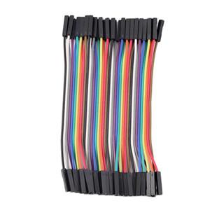 40pcs / Row 10cm 2.54mm femelle à câble de cavalier de fil femelle 1P-1P pour la vente en gros Arduino