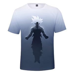 Goku Saiyan camiseta impresa de alta calidad de manga corta Tops verano hombre cuello redondo camisetas envío gratis