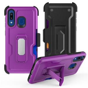 Samsung galaxy A10E notu 10 artı Kılıf Belt Clip A1 ile A20 / A30 / A50 LG airsto 4 artı K30 2019 stylo 5 İçin Hibrid Defender Telefon Kılıfları