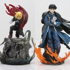 16-22cm de anime Fullmetal Alchemist Edward Elric Roy Mustang japonesa Acción estatua figura colección Modelo Juguetes