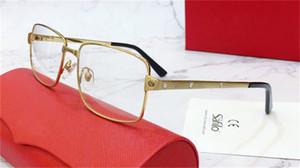 Atacado novo design de moda vidros ópticos 0203 metal retro full frame lentes transparentes retro dos vidros claros de negócios clássicos com caso