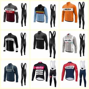 Morvelo ekibi Bisiklet uzun Kollu jersey bib pantolon setleri sıcak Satış bisiklet giyim ilkbahar sonbahar bisiklet D1619 suits
