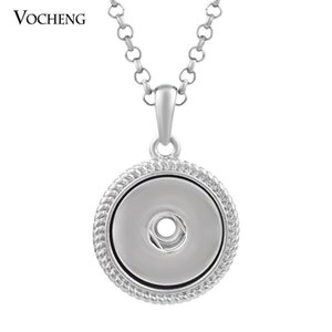 NOOSA Ginger Snap Necklace 18mm Metal Snap Button Pendant DIY Jewelry with Stainless Steel Chain NN-287
