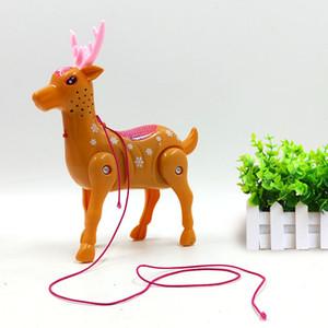 매화 사슴 콘서트 스톨 슬롯 로프 풀 라인 콩나물 애완 동물 판매 산책 전기 장난감을 아이들이 빛나는 음악 선물을 깜박이