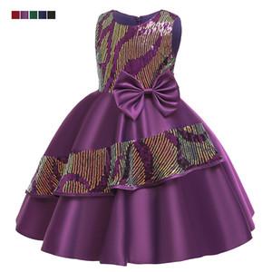Hot ~! saia irregular vestido das ins crianças com casamento menina sequin arco Mostra do vestido vestido de casamento da princesa