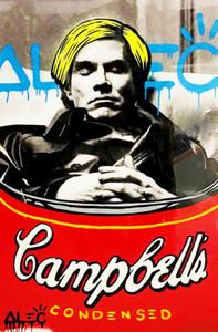 알렉 독점 오일 거실 191025 캔버스 낙서 예술 앤디 워홀 (Andy Warhol) 추모 홈 인테리어 지에 handpainted HD 인쇄에 그림