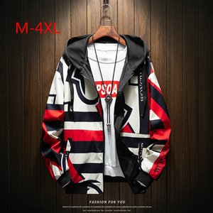 New 2019 Casual Men's Jackets Mix Color Spring Hooded Coats Men Outerwear Casual  Male Clothing Plus Size M-4XL New Design