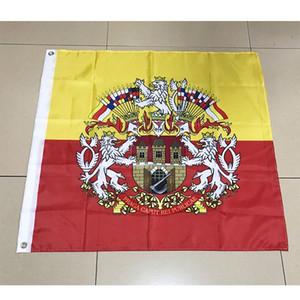 Flag of Prague Czech Republic 120cm*120cm Polyester Flag Banner decoration flying home & garden flag Festive gifts