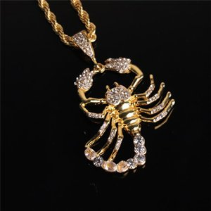 European and American hip hop scorpion pendant necklace hipster men's jewelry
