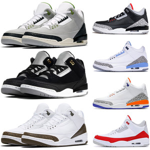 2019 Tinker JSP Black Cement 3 Mens Basketball Shoes UNC PE 33s Infrared 23 JTH NRG Chlorophyll Red Trainers Men Sneakers US 7-13