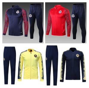 2019 Chivas de Guadalajara футбольный спортивный костюм пиджаки 18 19 Mexico Club camisas de futebol футбольная куртка с молнией
