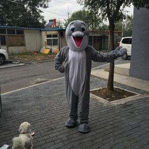 2019 NEW hot sale Dolphin Mascot Costume Adulto Tamanho Cinza Sorvete Dolphin Carnaval Partido Xmas Cosply Mascotte Terno Kit