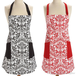 11styles Retro Aprons printed floral Home cotton aprons Kitchen BBQ Dinner Party baking Front Pocket home Adult Aprons dress A06
