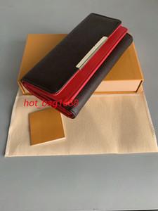 gratuit shpping gros fonds rouge dame longue design multicolore porte-monnaie porte-monnaie Porte-cartes femme boîte originale de poche zippée classique