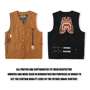 Tide brand fish head Vest bottle opener embroidery tiger head Golden bottle opener tooling vest