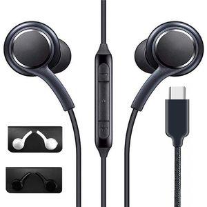 Тип-C с микрофоном белый черный громкость управления проводными наушниками наушников для Samsung Galaxy Note 10 A60 A80S S10