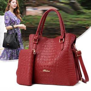 2019 one-shoulder s shoes PU Shoulder hand handbag crocodile women Hand bag