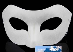 Çizim Kurulu Katı Beyaz DIY Zorro Kağıt Blank Maç DIY Zorro Kağıt Blank Maç Cadılar Bayramı Partisi maske 30pcs Maskesi
