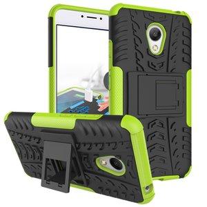 10 pz / lotto morbido silicone armatura tpu + pc phone case cover holder supporto per mei zu m5 nota mei zu m5 nota m 5 nota m5 fundas coque