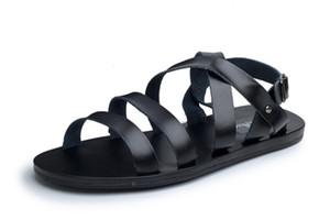 OUDINIAO Мужская обувь Свинья кожаные мужские сандалии Летняя мужская обувь Пляжная дышащая пряжка-гладиаторские сандалии для мужчин Zapatillas Hombre