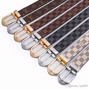 Cinturón Cinturones 2019 diseñador de los hombres de alta calidad de cuero genuino ceinture homme masculina Hombres 2017smooth aleación hebilla de cinturón marrón de café negro Cinto 95