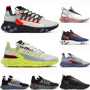 Nike React ISPA 2019 Новейшие React LW WR MID ISPA мужчины кроссовки Ghost Aqua Wolf Серый Платиновый Вольт Саммит Белые мужские спортивные кроссовки