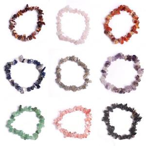 Natural Cura Cristal Pulseira Sodalita Chip Gemstone 18 centímetros trecho pulseira naturais pulseiras de pedra Mixed Gemstone Chakra Bracelet