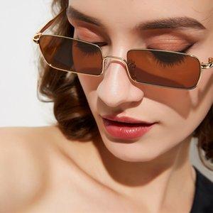 Max Glasiz Kleines Rechteck Metallrahmen Sonnenbrillen Frauen Platz 3 Farben erhältlich Retro Sun Glasses Weibliches Metall Trends Sunglass