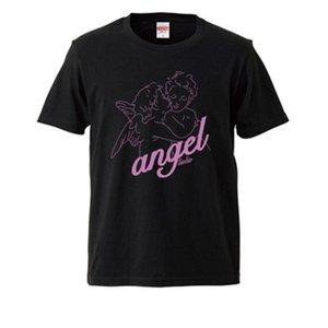 천사 캐주얼 짧은 소매 남성 티셔츠 패션 여름 남성 여성 라운드 넥 느슨한 인쇄 스트리트 새로운 티셔츠