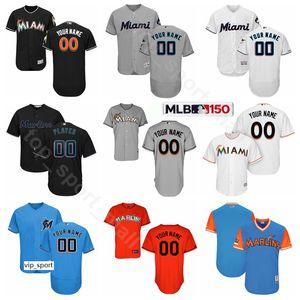 Baseball 38 Jorge Alfaro Trikots 5 Rosell Herrera 10 JT Riddle 62 Jose Urena 36 Trevor Richards 14 Martin Prado Custom Name