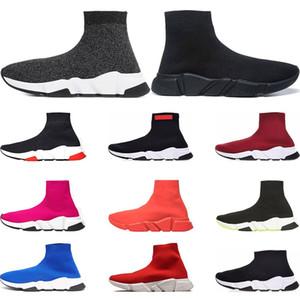 Balenciaga Designer chaussures vitesse formateur marque bule noir blanc rouge rouge plat mode hommes femmes chaussettes sport baskets mode formateurs Casua taille 36-45