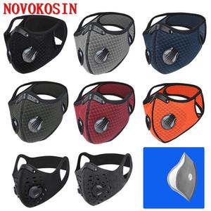 Máscara Anti Haze Boca duas válvulas de equitação Anti Poluição PM2.5 máscara máscaras contra poeira Ventilação Sun Protecção exterior Esporte para Cardon Filtro