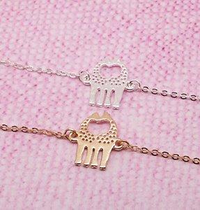 Niedliches Herz Liebend Giraffen Tier-Charme-Armbänder Einfach reizend Twin Giraffe Hirsch Armband Tier Schmuck für Paare