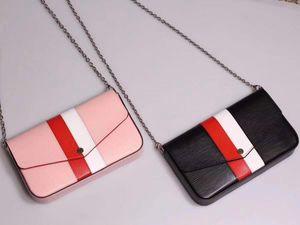 New 3 pcs set classic fashion women designer handbags genuine real leather laser hardware crossbody shoulder chain bags wallet card bag