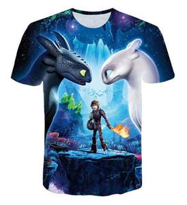 2019 Hot Sales Big Yards T-Shirt Men's Cute Tops How To Train Your Dragon Cartoon 3D T-Shirt Summer Clothes Anime TShirt DX01