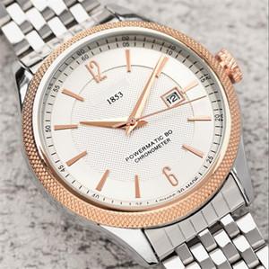 homens Relógio de luxo Items New Mens Automatic Quartz Calendário 42 milímetros Assista 1853 Aço inoxidável Men Luminous Negócios Relógio de pulso 50M impermeável